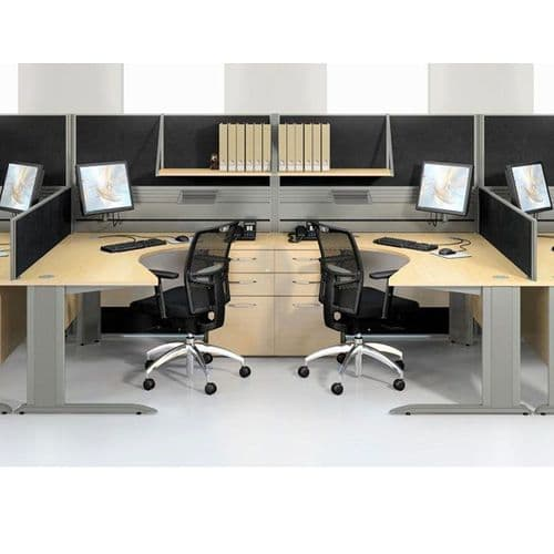 Compact Radial Desk on Cantilever Frame