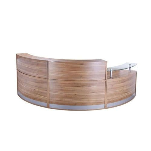 Curved Reception Unit with Glass Sign In