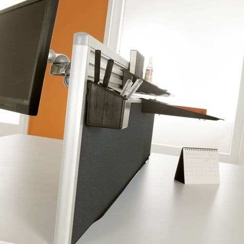 Desk Mounted Screens With Option For Tool Rail