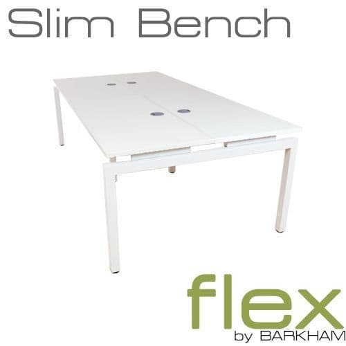 Flex | New Slim Bench Desk White