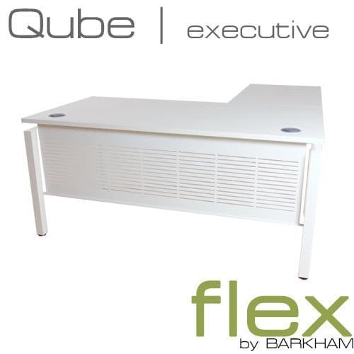Flex | New Free Standing Desk with Return | corner desk with white frame | executive manager desk
