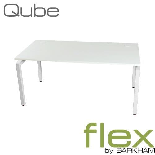 Flex | New White Free Standing Desk | pole legged desk | rectangular desk with square frame