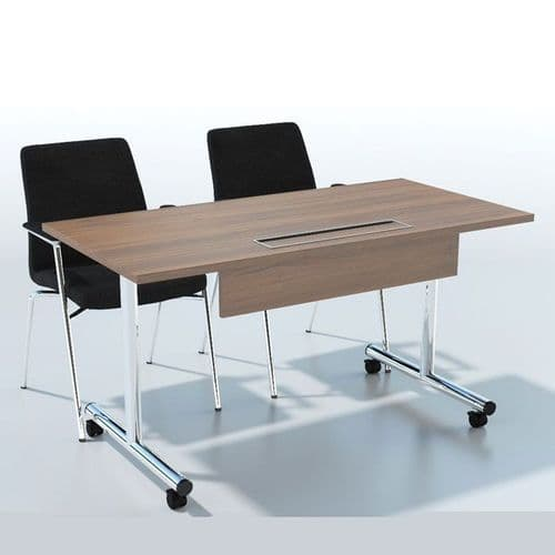 Flip top tables with options for Modesty Panel