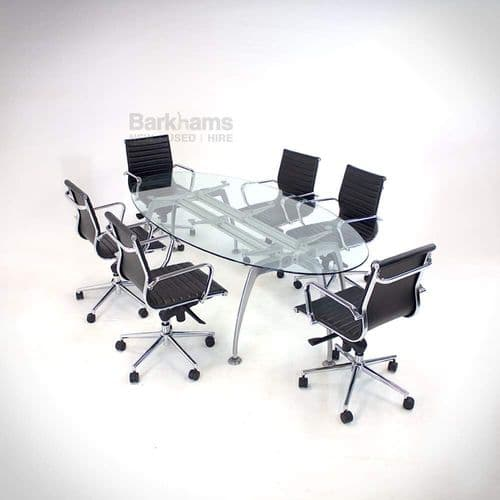 Frezza Oval Glass Meeting Table