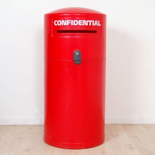 Glasdon Red Lockable Confidential Bin