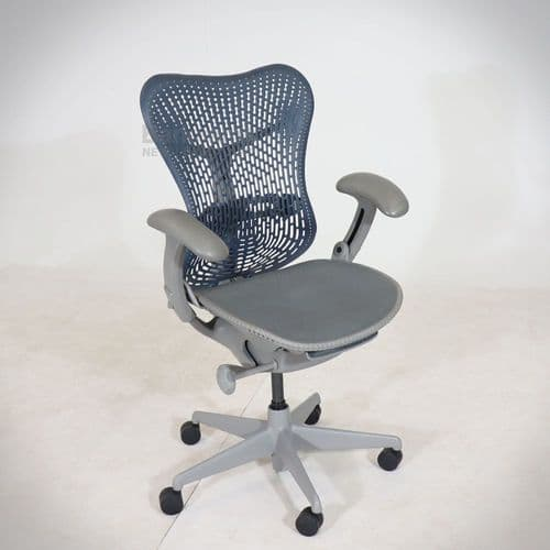Herman Miller Mirra (Blue Fog Back & Grey Frame)