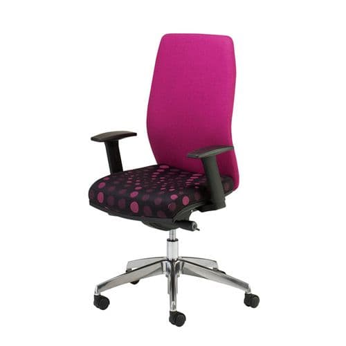 High Back Task Chair with Inflatable Lumbar Support