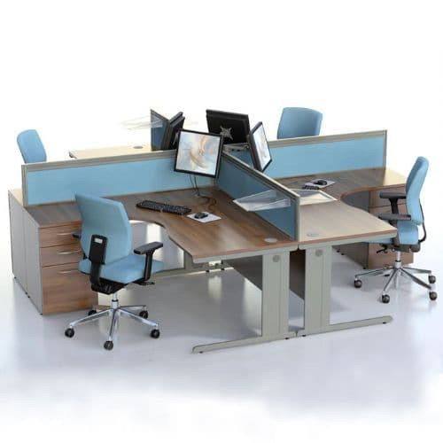 Radial Desk in wood finish of your choice