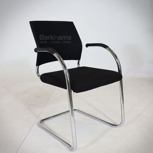Klober Cantilever Meeting Chair in Black