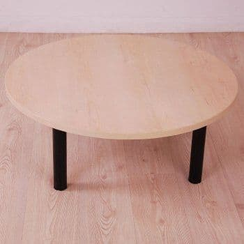Maple Round Coffee Table 900mm Diameter | low round table | round reception table