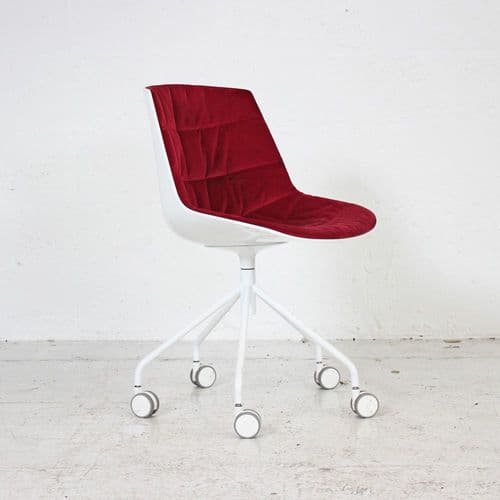 MDF Italia Flow Chair - Red Velvet