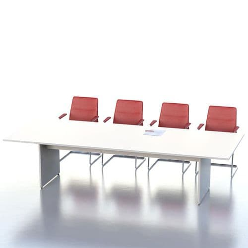 MFC Rectangular Boardroom Table with Panel Base