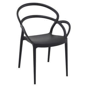 Mila Arm Chair - Black