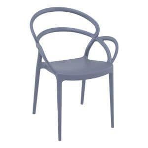 Mila Arm Chair - Dark Grey