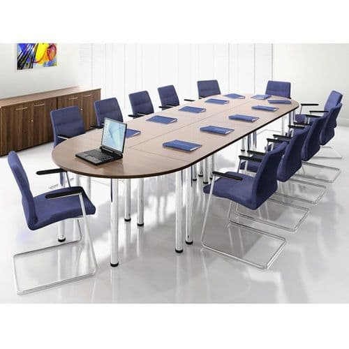 Modular Meeting or Training Tables on Pole Legs