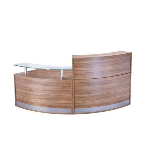 Modular Reception Desk with Glass Sign in