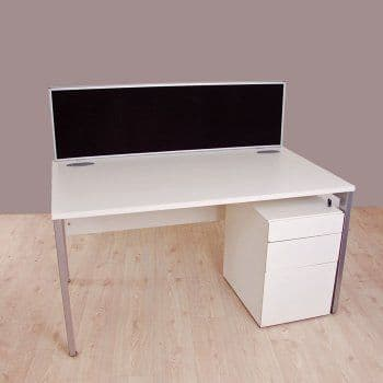 New Linking Desk Mounted Screens with Aluminium Edging