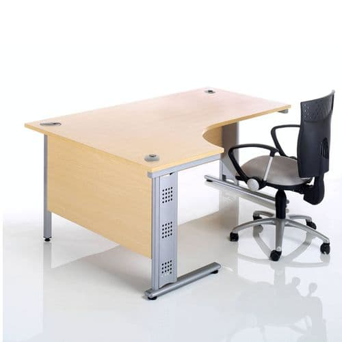New Radial Desk on Wire Managed Cantilever Frame