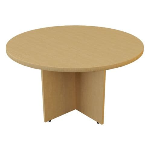New Round Meeting Table In Light Oak, Beech or White