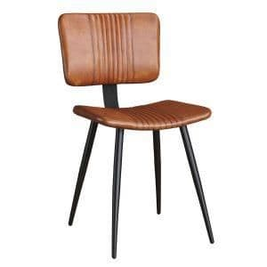 Opel Side Chair - Bruciato Leather