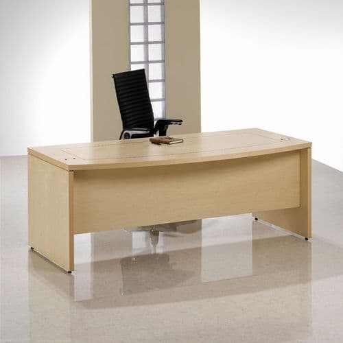 Professional Executive Desk With Bow Front