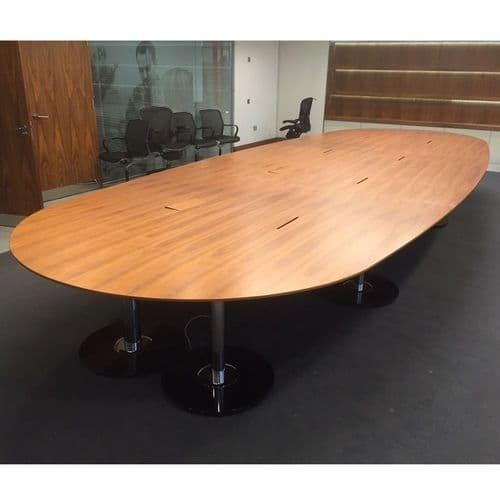 Real Walnut Veneer Boardroom Table - Seats 22
