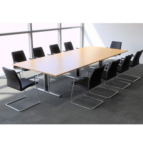 Rectangular Boardroom Table with Veneer Finish