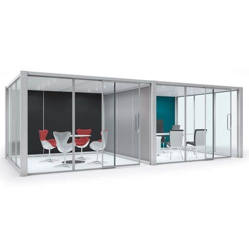 Rectangular Free Standing Pod with Dividing Screen