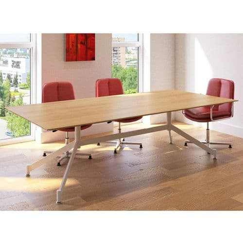 Rectangular Meeting Table with Funky Base