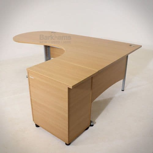 Right Hand Radial Executive Desk With Meeting Bubble