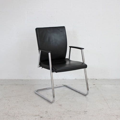 Sedus Black Leather Meeting Chair