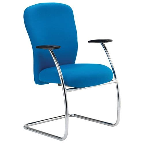Square Back Meeting Chair with Arms