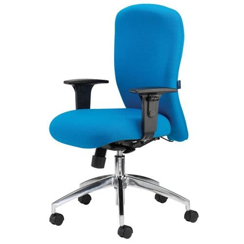 Square Back Operator Chair with Inflatable Lumbar Support