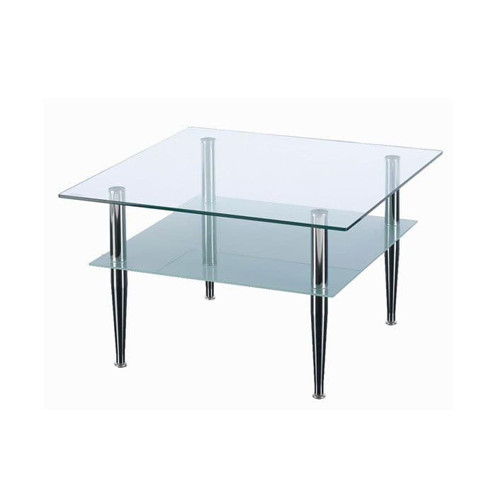 Square Glass Reception Table | waiting room table | glass table