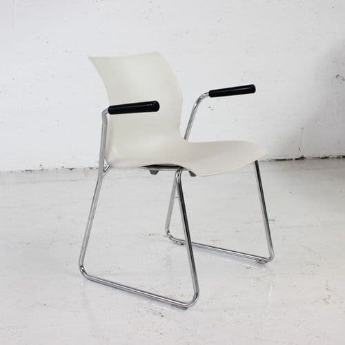 Stacking side chair with sled base
