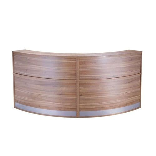 Tall Curved Reception Unit