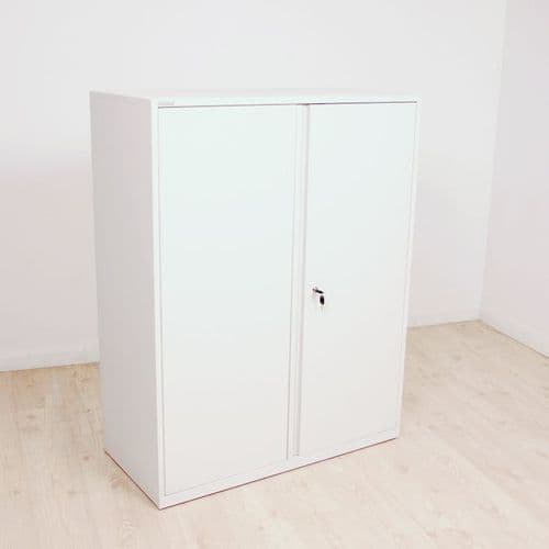 Triumph White Double Door Cupboard 1280 High x 1000 Wide