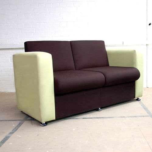Two Tone Green and Black Reception Sofa