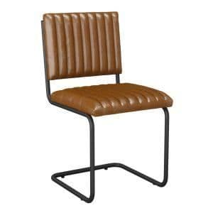 Tyra Side Chair - Bruciato Leather | Vintage Meeting Chair | Rustic Leather Chair