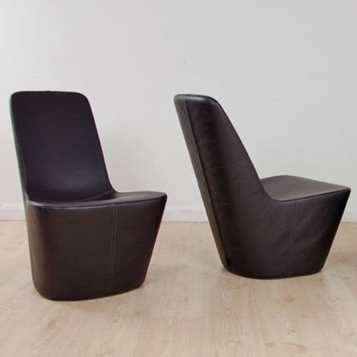 Vitra Monopod by Jasper Morrison | leather stools | low leather seat