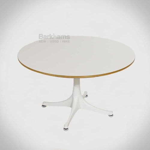 Vitra Nelson Pedestal Table in White