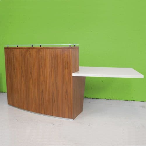 Walnut veneer reception desk