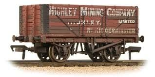 Bachmann 37-658A 7 Plank End door wagon Highley Mining Company (weathered)