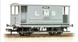 Bachmann 38-552 20T Midland Brake van 2045 (with duckets) LMS Grey