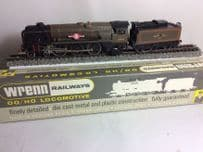 "RARE Over cooked (Colour) Wrenn W2238 ""Clan Line"" BR Green 35028 4-6-2"