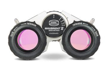 Baader MaxBright® II Binoviewer with adapters to T-2 and Zeiss micro-bayonet in a padded carrying ca
