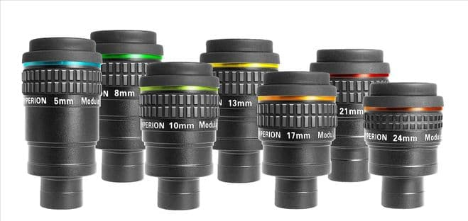 Full Set of Hyperion Eyepieces 5/8/10/13/17/21/24mm (single set special price)   incl. Eyepiece-Cas