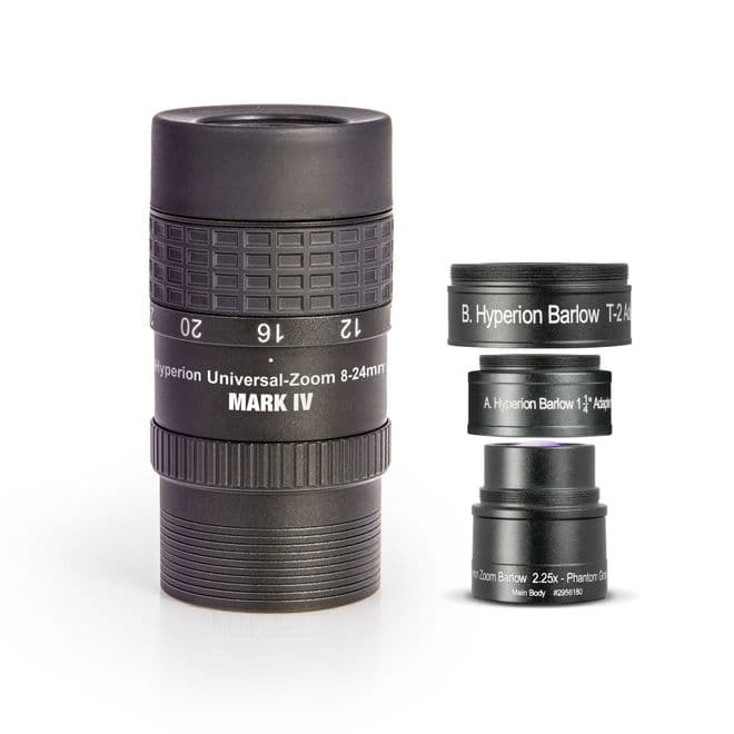 High Magnification Mark IV / Barlow Zoom-Set (3,5  10,5 mm), consisting of: Hyperion Universal Zoom