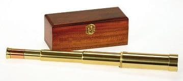 Admiral-2  10-30x30 Full Brass Zoom Draw Telescope with Mahogany Presentation Box