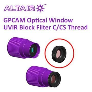 Altair GPCAM Replacement Optical Window - UVIR Block with AR Coating